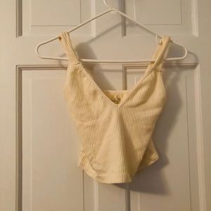 Free People NWOT defect tank top ribbed cream xs/s